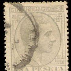 Selos: ESPAÑA EDIFIL 197 (º) UNA PESETA GRIS ALFONSO XII 1878 NL1564. Lote 170549364