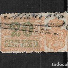 Sellos: ESPAÑA MADRID RECARGO MUNICIPAL 1876 - 1877 USADO- 15/43. Lote 201926301