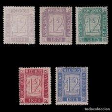 Sellos: FISCALES.1871-75.RECIBOS12M.SERIE NUEVO*.GALVEZ 28-32.ALEMANY 17-21. Lote 201981666