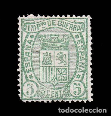 *** BONITOS 5 CÉNTIMOS DE LA I REPÚBLICA. 1875. NUEVO, VERDE CLARO. EDIFIL 154 *** (Sellos - España - Otros Clásicos de 1.850 a 1.885 - Nuevos)