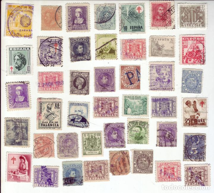 LOTE DE MAS DE 400 SELLOS ANTIGUOS - TODOS FOTOGRAFIADOS (Sellos - España - Otros Clásicos de 1.850 a 1.885 - Usados)
