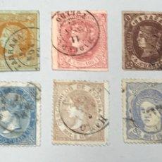 Selos: LOTE 6 SELLOS EDIFIL 52-58-64-88-96-107 3 CON ADELGAZAMIENTOS. Lote 207412637