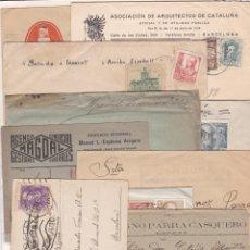 Sellos: LOTE DE 10 CARTAS CON MATASELLOS, CARTERIAS, CENSURAS Y FECHADORES DISTINTOS (VER DESCRIPCIÓN). Lote 210222450