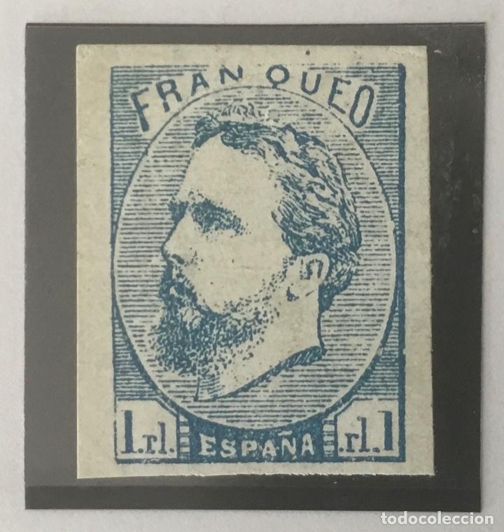 1873-ESPAÑA CARLOS VII EDIFIL 156 MH* 1 REAL CARLISTA - NUEVO - (Sellos - España - Otros Clásicos de 1.850 a 1.885 - Nuevos)