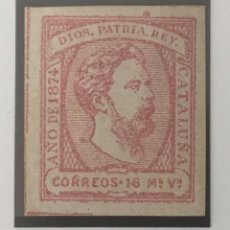 Sellos: 1873-ESPAÑA CARLOS VII EDIFIL 157 (*) 15 MARAVEDÍES ROSA - NUEVO -. Lote 210229160