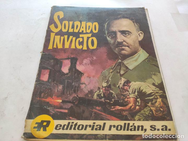 SOLDADO INVICTO - BIOGRAFÍA DE FRANCO EN FORMATO TBO COMIC - EDITORIAL ROLLAN S.A 1969 (Sellos - España - Otros Clásicos de 1.850 a 1.885)