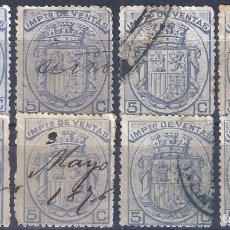 Sellos: FISCALES POSTALES. IMPUESTO DE VENTAS. 1876.. Lote 218546672