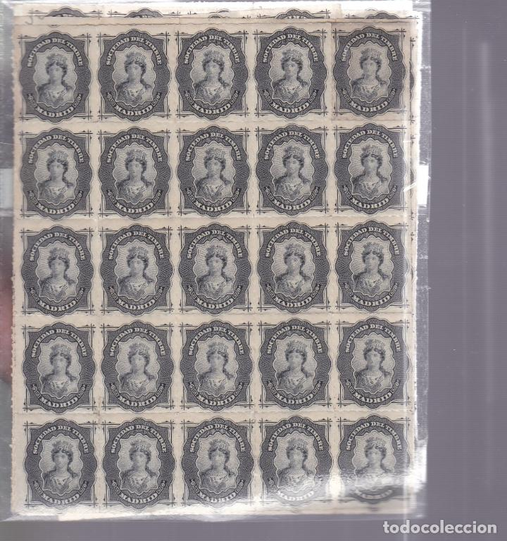 HP4-5- FISCALES SOCIEDAD DEL TIMBRE LOTE 200 SELLOS BLOQUES NUEVOS (Sellos - España - Otros Clásicos de 1.850 a 1.885 - Nuevos)