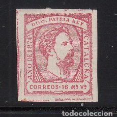 Sellos: ESPAÑA, CORREO CARLISTA. 1874 EDIFIL Nº 157 /*/, 16 MV. ROSA, CARLOS VII. Lote 221995282