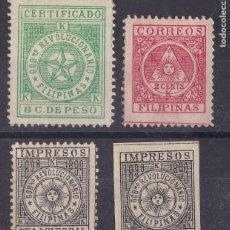Selos: JJ33- COLONIAS FILIPINAS CORREO INSURRECTO X 4 VALORES NUEVOS. Lote 223292928