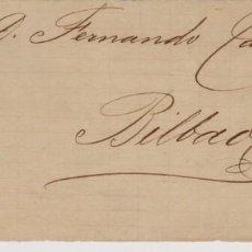 Selos: AÑO 1882 EDIFIL 210 FRO MATASELLOS SANTANDER A BILBAO. Lote 223959955