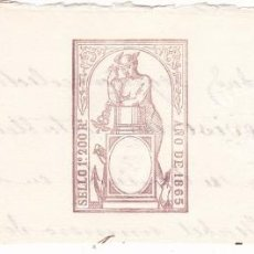 Timbres: TMBR1- FISCALES PAPEL SELLADO .SELLO 1º 200 REALES 1865. Lote 225082860