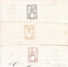 Timbres: TMBR1- FISCALES PAPEL SELLADO .SELLO 1º , 2º Y 9º 1866. Lote 225082870