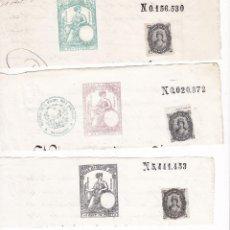 Timbres: TMBR4- FISCALES PAPEL SELLADO .SELLO 1º 1876 + 2 VALORES MAS.. Lote 225082910
