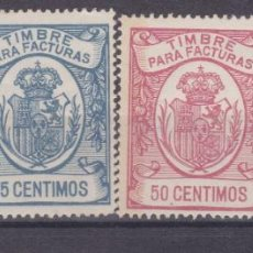 Timbres: JJ38- FISCALES TIMBRE FACTURAS X 4 VALORES MUESTRAS A 000.000. ** SIN FIJASELLOS. Lote 225284758