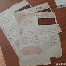 Selos: 3 CARTAS DE LA FABRICA DE CALZADO CEBREIRO, SANTIAGO, GALICIA A ALCANTARILLA, MURCIA AÑOS 1918 Y 191. Lote 226419917