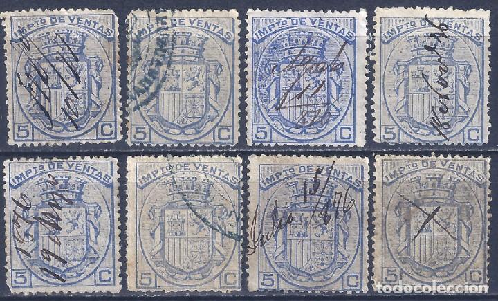FISCALES POSTALES. IMPUESTO DE VENTAS. 1876. (Sellos - España - Otros Clásicos de 1.850 a 1.885 - Usados)