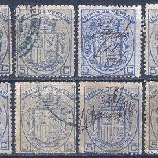 Sellos: FISCALES POSTALES. IMPUESTO DE VENTAS. 1876.. Lote 228243760
