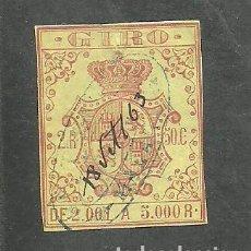 Sellos: ESPAÑA 1863-67 - SELLO GIRO 2000 A 5000 R . - USADA. Lote 234672210
