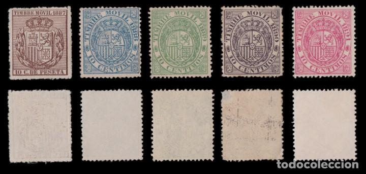 Sellos: Fiscales.1882-1903.TIMBRE MOVIL.Lote 22 valores MNG - Foto 3 - 234909830