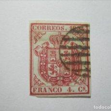 Selos: ESPAÑA ISABEL II EDIFIL 33 PAPEL AZULADO PERFECTO!!!. Lote 240092485
