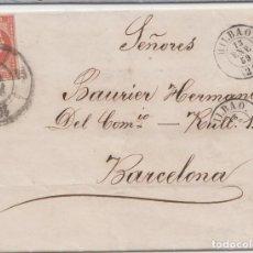 Sellos: CARTA CIRCULADA DE BILBAO A BARCELONA - 1850. Lote 241982430