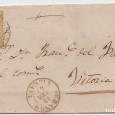 Sellos: ENVUELTA CIRCULADA DE DURANGO A VITORIA - 1861. Lote 241983235