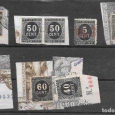 Sellos: LOTE DE SELLOS DE IMPUESTO DE GUERRA DE 1898 VALORES ALTOS. Lote 243151025