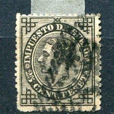 Timbres: EDIFIL 185. 25 CTS IMPUESTO DE GUERRA, AÑO 1876. USADO. Lote 246122160