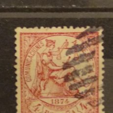 Selos: AÑO 1874 ALEGORÍA DE LA JUSTICIA SELLO USADO DE 4 PESETAS EDIFIL 151 VALOR DE CATALOGO 735,00 EUR. Lote 251573910