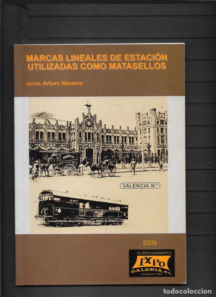 ESPAÑA CATALOGO FERROCARRILES MARCAS LINEALES UTILIZADAS COMO MATASELLOS CON PRECIOS DEL AÑO 2002 (Sellos - España - Otros Clásicos de 1.850 a 1.885 - Cartas)