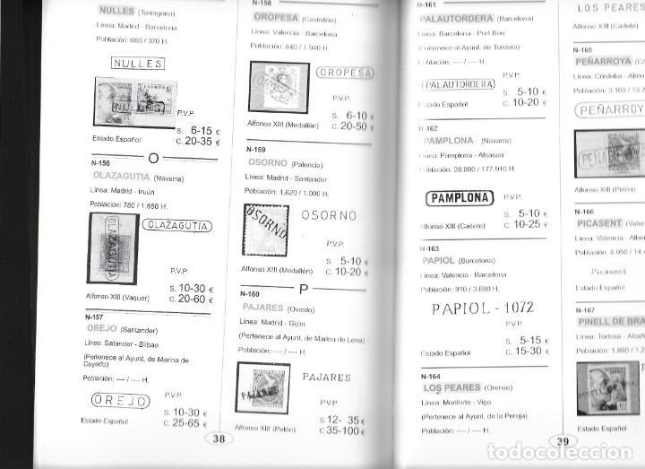 Sellos: ESPAÑA CATALOGO FERROCARRILES MARCAS LINEALES UTILIZADAS COMO MATASELLOS CON PRECIOS DEL AÑO 2002 - Foto 2 - 254293240