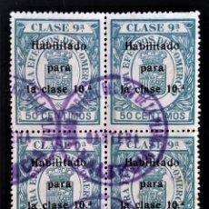 Selos: FISCAL EFECTOS DE COMERCIO VALENCIA BANCO ESPAÑOL RIO DE LA PLATA HABILITADO. Lote 259055165