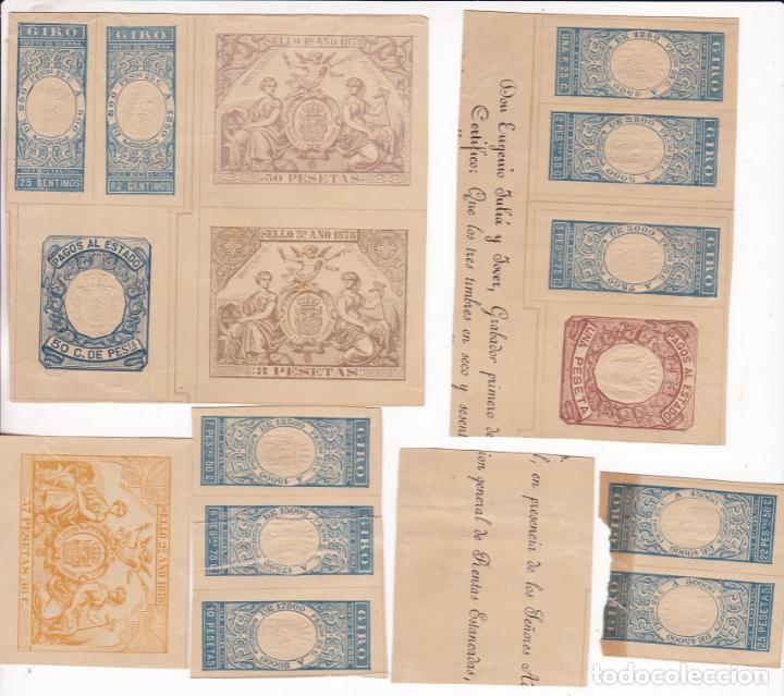 ST- FISCALES X 57 VALORES DIFERENTES DE LA HOJA MUESTRA 1878. VER 19 IMÁGENES Y DESCRIPCIÓN (Sellos - España - Otros Clásicos de 1.850 a 1.885 - Nuevos)