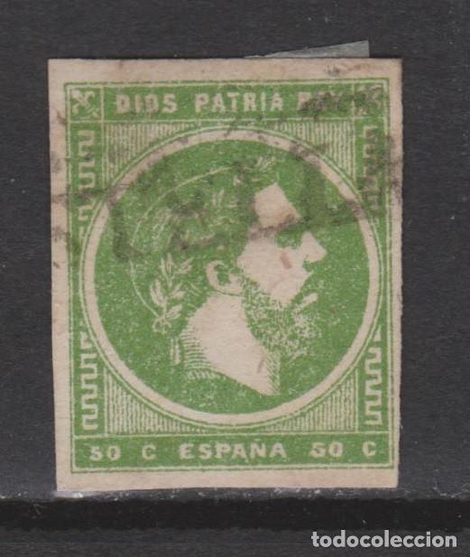 1875 CARLISTA 50 CTS MATASELLOS ESTELLA. RARO. ORIGINAL. VER. (Sellos - España - Otros Clásicos de 1.850 a 1.885 - Usados)