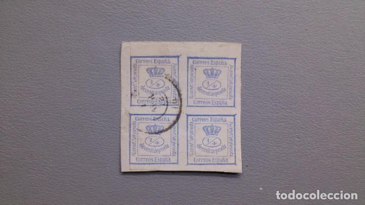 ESPAÑA - 1872 - AMADEO I - EDIFIL 115 - GRANDES MARGENES - SOBRE FRAGMENTO - LUJO - VALOR CAT. 150€ (Sellos - España - Otros Clásicos de 1.850 a 1.885 - Usados)
