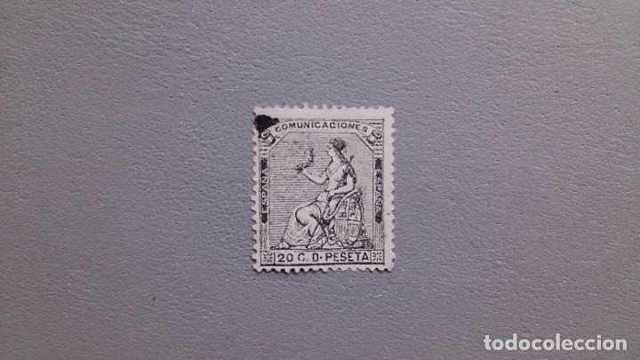 ESPAÑA-1873-I REPUBLICA - EDIFIL 134 -(*) - NUEVO - CENTRADO - MARQUILLA HEVIA Y ROIG - V. CAT. 165€ (Sellos - España - Otros Clásicos de 1.850 a 1.885 - Nuevos)