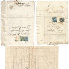 Selos: TRES CARTAS IMPUESTO DE GUERRA 5CTS ALFONSO XII 10CTS COMUNICACIONES. FOTOS. Lote 263256710