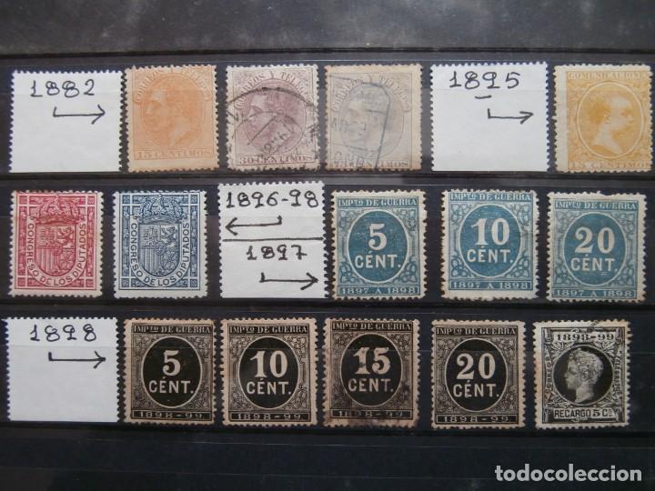 ESPAÑA - PRIMER CENTENARIO - LOTE DE SELLOS DESDE 1882-1898 -. (Sellos - España - Otros Clásicos de 1.850 a 1.885 - Usados)