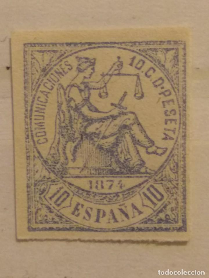 AÑO 1874 ALEGORÍA DE LA JUSTICIA SELLO NUEVO SIN DENTAR EDIFIL 145 VALOR DE CATALOGO 23,00 EUROS (Sellos - España - Otros Clásicos de 1.850 a 1.885 - Nuevos)