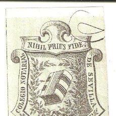 Sellos: SELLO DE NOTARIO. COLEGIO NOTARIAL DE SEVILLA. DOCE REALES.. Lote 265566594