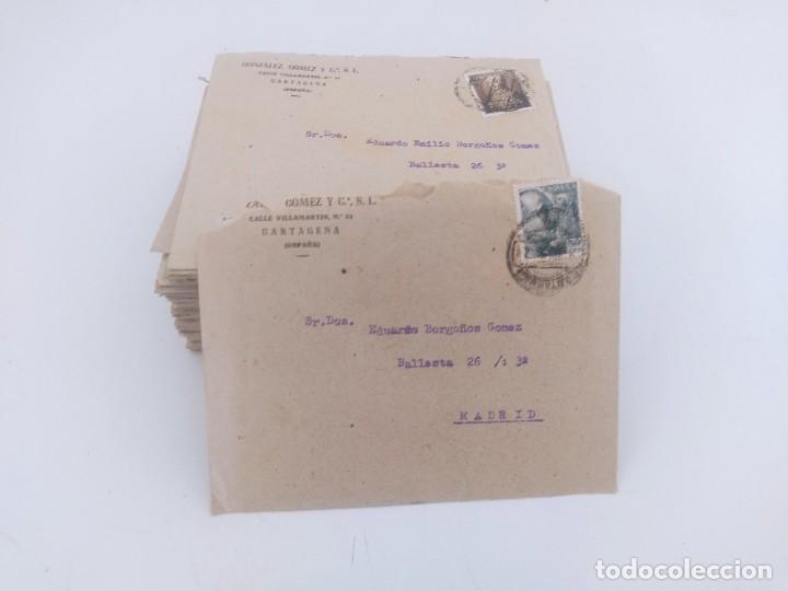 LOTE DE 70 CARTAS DE CORRESPONDENCIA DE MADRID A CARTAGENA 1951 DE LA MISMA FAMILIA (Sellos - España - Otros Clásicos de 1.850 a 1.885 - Cartas)