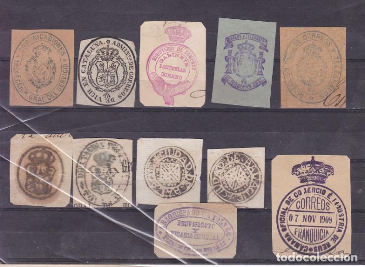 FC3-5- LOTE MARCAS ANTIGUAS, FRANQUICIAS CORREOS Y OTRAS (Sellos - España - Otros Clásicos de 1.850 a 1.885 - Usados)