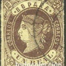 Sellos: EDIFIL 61 SELLOS ESPAÑA USADOS ISABEL II AÑO 1862. Lote 268860294