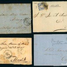 Selos: * MAGNÍFICO LOTE X 12 CARTAS CLÁSICAS, ISABEL II, I REPÚBLICA, ALFONSO XII Y XIII. MUY INTERESANTE *. Lote 44128899