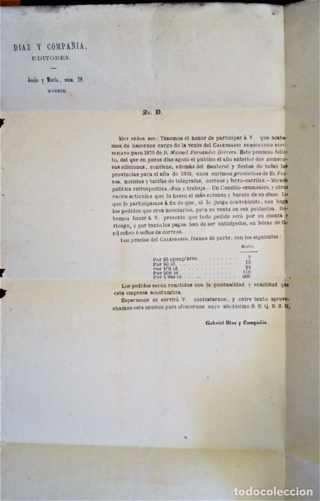 Sellos: FRANCO MADRID 1885 A BILBAO PRECIOSA CON PUBLICIDAD INTERIOR EDITORES LIBRERO LIBRERÍA RARO - Foto 2 - 276148388