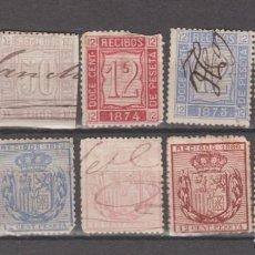 Sellos: ESPAÑA, LOTE VALORES RECIBOS.. Lote 276561653