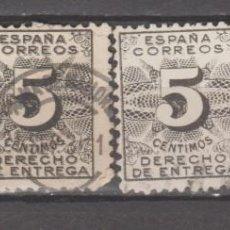 Sellos: ESPAÑA, DERECHO DE ENTREGA. 4 VALORES.. Lote 276743558
