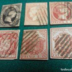 Sellos: EDIFIL 6, 12, 17, 24, 33 Y 33A USADOS. Lote 277272913