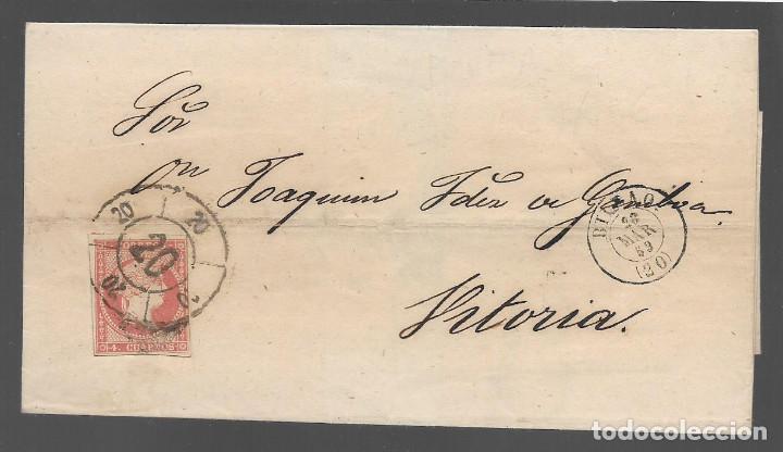 CARTA CON SELLO 4 CUARTOS, MATASELLO, BILBAO , VER FOTOS (Sellos - España - Otros Clásicos de 1.850 a 1.885 - Cartas)